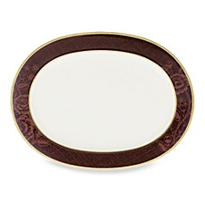 Mahogany Rose 14-Inch Oval Platter by Noritake