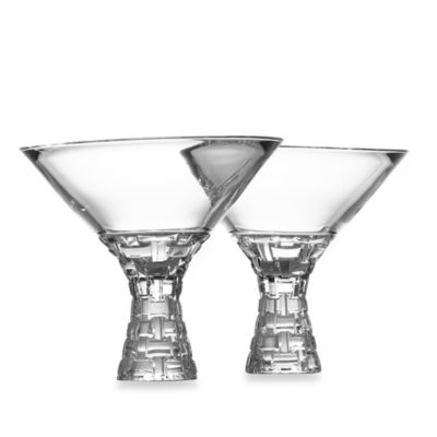 Nachtmann Crystal Dancing Stars Bossa Nova 12-Ounce Martinis (Set of 2)