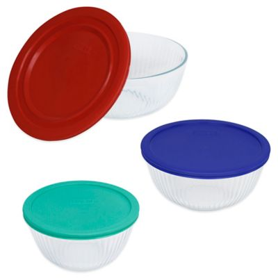 Pyrex® Glass Bowls with Lids (Set of 3)