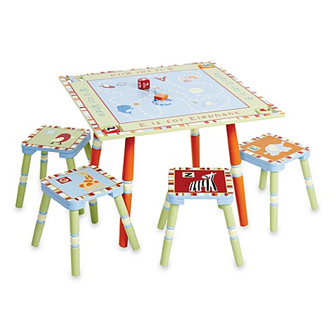 Cocalo baby alphabet soup table and four stool set for Baby letter table for sale
