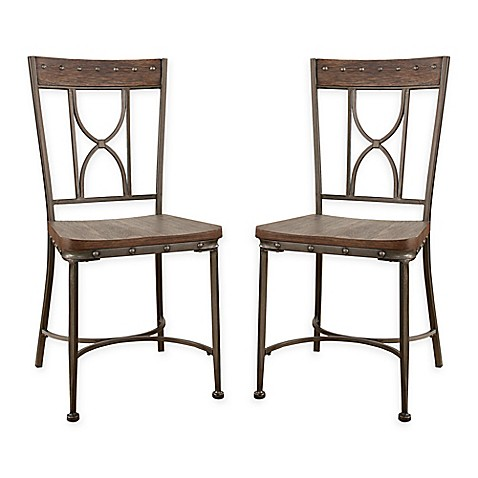 Hillsdale Paddock Dining Chairs In Brushed Steel Set Of 2 Bed Bath