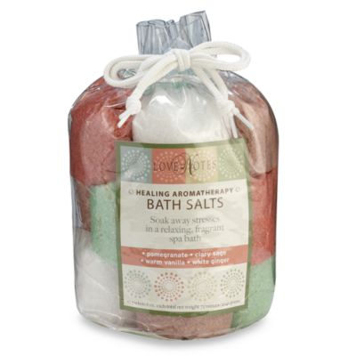 "Love Notes Healing Aromatherapy ""Warm"" Bath Salts Tote"