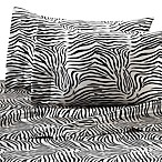 Satin Luxury Zebra Sheet Set
