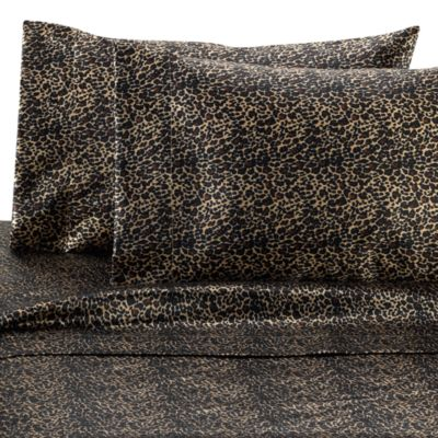 Satin Luxury Leopard Full Sheet Set