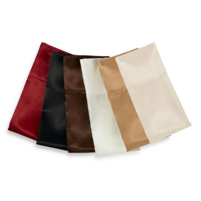 Satin Luxury Chocolate King Sheet Set