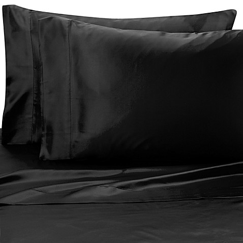 Satin Luxury King Pillowcases in Black (Set of 2)