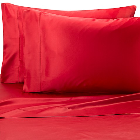 Satin Luxury King Sheet Set in Red