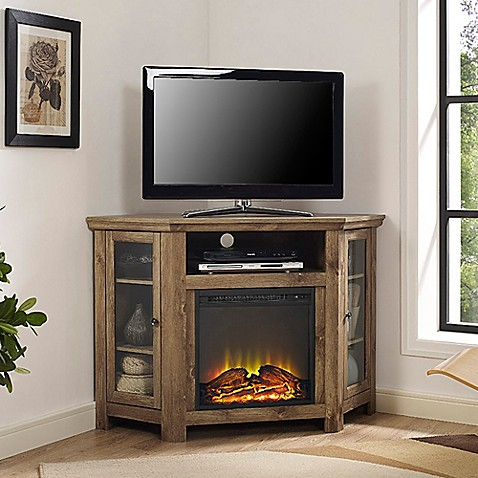 Buy Walker Edison 48 Inch Corner Fireplace Tv Stand In