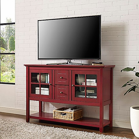 Walker Edison 52 Inch Wood Console Table Tv Stand Bed