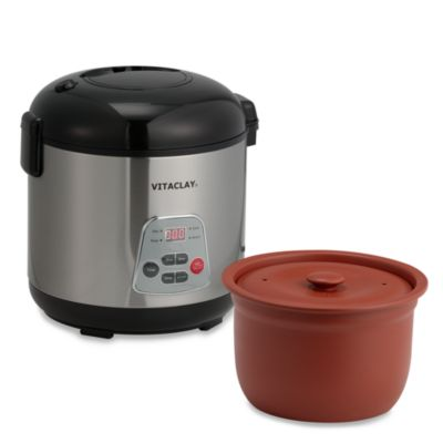 Vita Clay® Essenergy 6-Cup Rice N' Slow Cooker