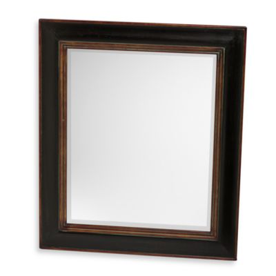 Uttermost Black Fabiano Wall Mirror