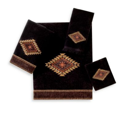 Mohave Black Fingertip Towel