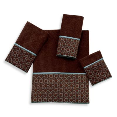 Avanti Cobblestone Fingertip Towel in Mocha
