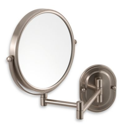 Jerdon 7X/1X Nickel Finished Wall Mount Mirror
