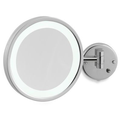 Jerdon 5X Chrome LED Wall Mount Mirror