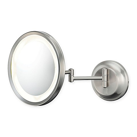 5x lighted makeup mirror in brushed nickel from bed bath beyond. Black Bedroom Furniture Sets. Home Design Ideas