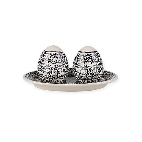 Pottery Avenue Elegant Times Salt And Pepper Shakers With