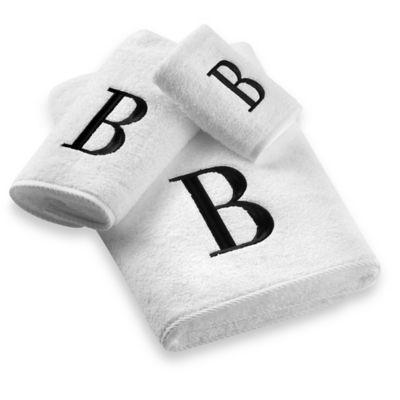 """Avanti Monogram Letter """"V"""" Fingertip Towel"""