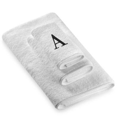 "Avanti Monogram Letter ""A"" Hand Towel"
