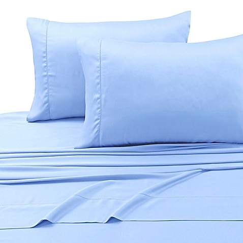 extra deep pocket california king sheet set in spa blue from bed bath