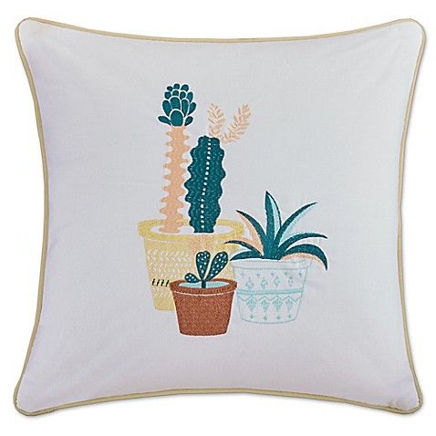 HipStyle Green Thumb 20-Inch Square Throw Pillow in Yellow - Bed Bath & Beyond