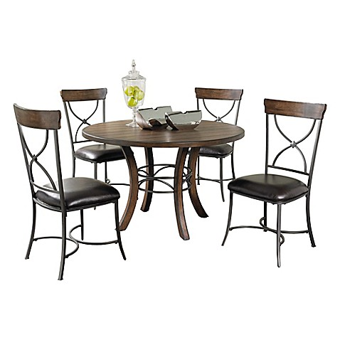 Hillsdale Cameron 5 Piece Dining Set In Chestnut Brown Bed Bath Beyond