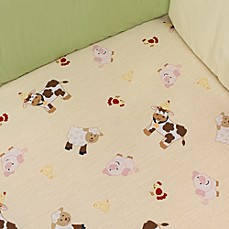 Farm Babies Fitted Crib Sheet by Nojo®