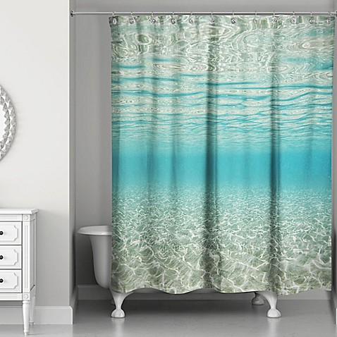 Buy Designs Direct Under The Ocean Shower Curtain In Blue