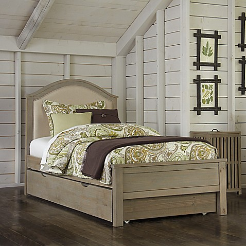 Buy NE Kids Highlands Bailey Upholstered Twin Bed In Driftwood From Bed Bath