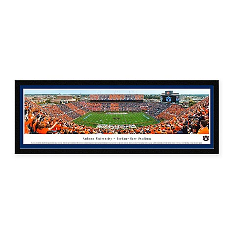 Auburn University Panoramic Football Stadium Print with Select Frame
