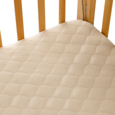 Organic Cotton Crib Mattress Pad Cover