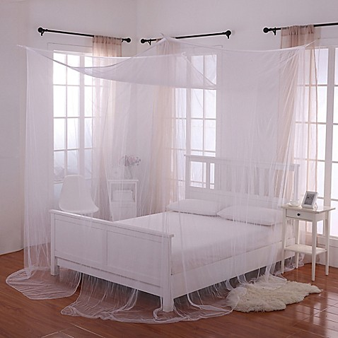 Buy Palace 4 Poster Bed Canopy In White From Bed Bath Beyond