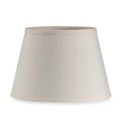 Mix & Match Medium 13-Inch Modified Barrel Lamp Shade in Eggshell Ivory