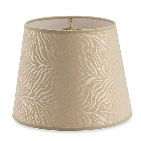 zebra cream drum shaped 12 lamp shade bed bath beyond