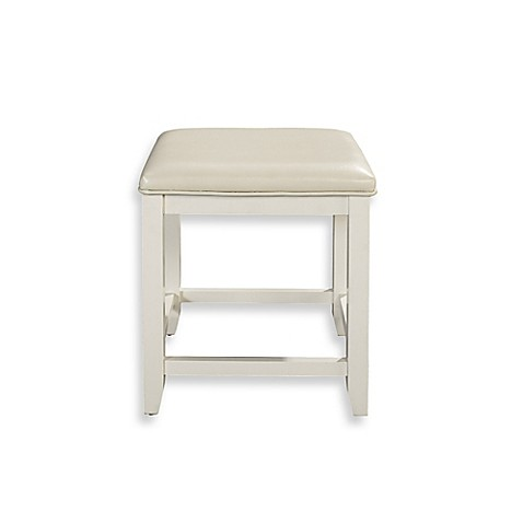 Buy Vista Vanity Stool In White From Bed Bath Amp Beyond