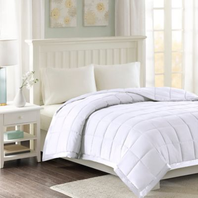 Madison Park Windom Microfiber Twin Blanket in White