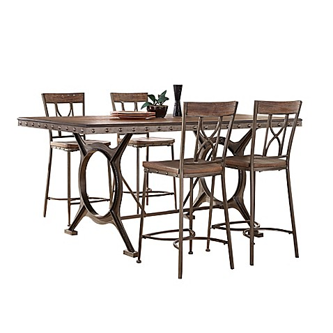 Buy Hillsdale Paddock 5 Piece Counter Height Dining Set In Grey From Bed Bath