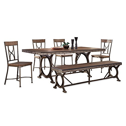 Hillsdale Paddock 6 Piece Dining Set In Grey Bed Bath Beyond