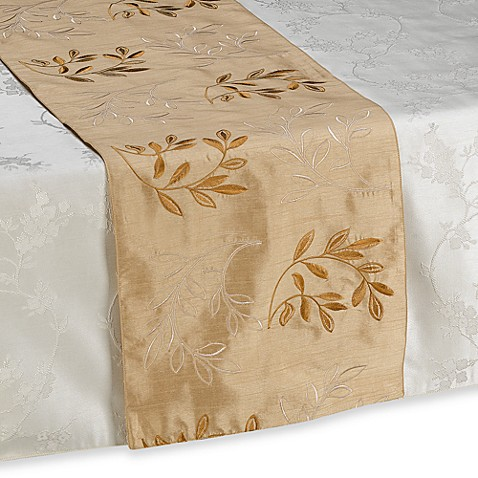 Monique Gold Table Runner Bed Bath Amp Beyond