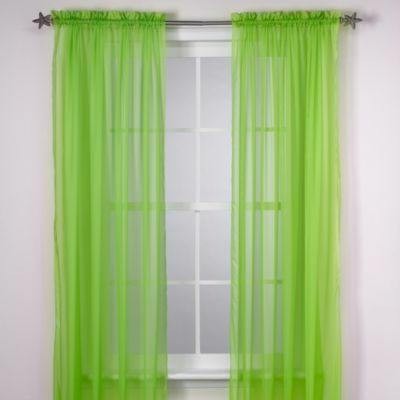 Calypso 63-Inch Window Curtain Panel in Lime