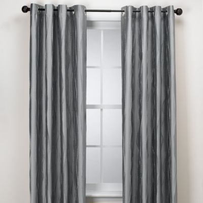 Venice 63-Inch Window Curtain Panel in Silver