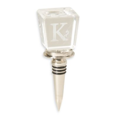 "Monogram Letter ""K"" Wine Stopper"