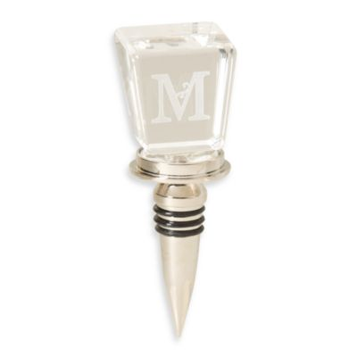 "Monogram Letter ""M"" Wine Stopper"