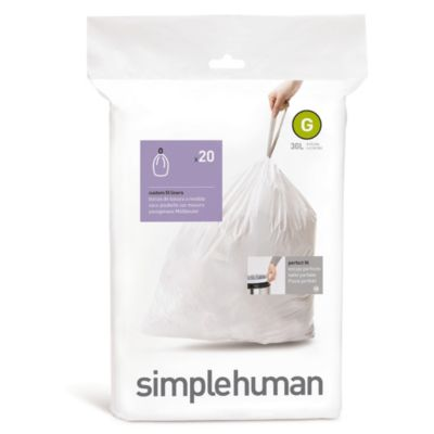 simplehuman® 20-Pack Code G Custom Fit 30-Liter Can Liners