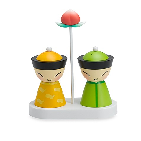 Mr mrs chin salt and pepper shaker set by alessi for Alessi salt and pepper shakers