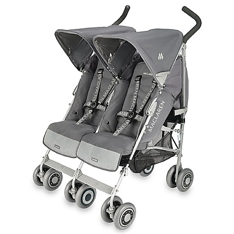 maclaren techno twin stroller in charcoal silver bed bath beyond. Black Bedroom Furniture Sets. Home Design Ideas