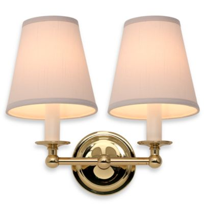 London Terrace Polished Brass Double Light