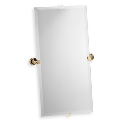 London Terrace Polished Brass Large Mirror