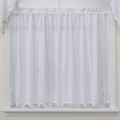White Linen Shower Curtain JCPenney Kitchen Curtains