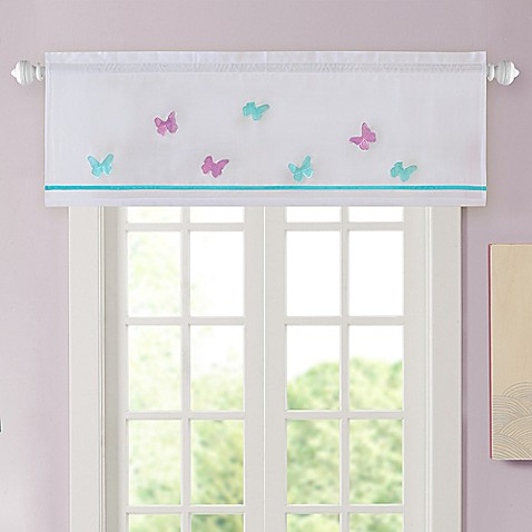 Alice Butterfly Embroidered Window Valance Bed Bath Beyond